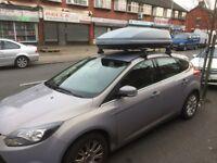 Car roof box and bars