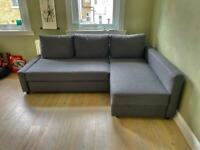 FREE DELIVERY IKEA FRIHETEN GREY L-SHAPED CORNER SOFA BED WITH STORAGE GREAT CONDITION