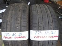 matching pair of 275 45 21 pirelli scorpions £100 pair sup & fittd(LOADS MORE AV 7-DAYS)