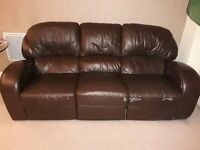 Stylish and comfortable 3 seated leather sofa