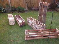 Pallets for flower-troughs-planters!!