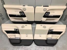 RANGE ROVER L405 DOOR CARDS FRONT & REAR LWB LEATHER AUTOBIOGRAPHY GENUINE