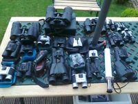 collection of binoculars