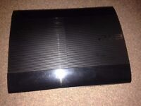 PS3 Super Slim 12gb version - good working order and stack of games