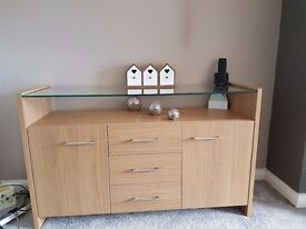 18 months, excellent condition. Sideboard, TV unit and Coffee table