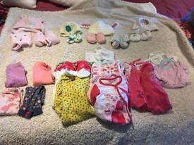 Newborn, 0-3 girls bundle