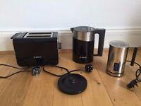 Bosch TAT8613GB Toaster & TWK86103GB Styline Sensor Kettle
