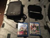Ps Vita Slim 8GB, + 2 games + pouch