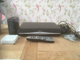 Sky+HD box with remote/router/booster
