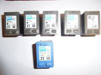 HP 21 22 **EMPTY** Ink Cartridges x 6 **TO REFILL**