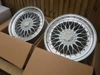 """Brand new 19"""" BBS RS style alloy wheels 5x112 5x120 vw bmw merc audi"""