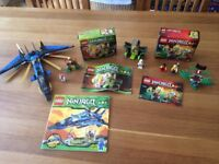 3 LEGO Ninjago sets - Masters of Spinjitzu with instruction booklets