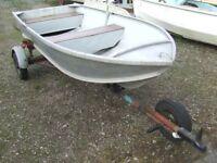 Aluminium boat 10' welded seams