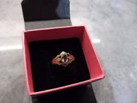 9ct solid gold amethyst ring
