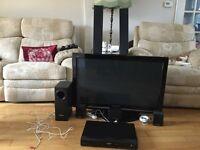 "PANASONIC 37"" PLASMA TV AND DVD HOME THEATRE SOUND SYSTEM"