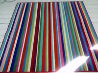 IKEA 193 X 193CM STRIPED RUG