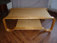 Bent Steamed Plywood IKEA Coffee Table Lounge Table Modernist Vintage Retro