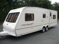 BAILEY MONTANA 5 -BERTH TWIN AXLE CARAVAN, GREAT LAYOUT, FIAMMA AWNING, EXC CONDITION