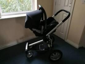 Quinee Buzz 4 pushchair+Maxi Cosi car seat