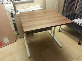 Walnut Office Desk 800mm - Small scuff