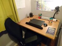 Modified Desk with Ergonomic Chair and Orthopedic Footrest