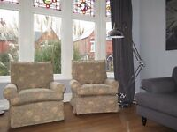 Stunning MULTIYORK William Morris Matching Armchairs