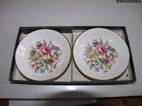 Pair Royal Worcester Bone China Display Plates Weymouth