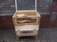 Wooden Hamster Cage, Guinea pig, Rodent House,Mice Cage