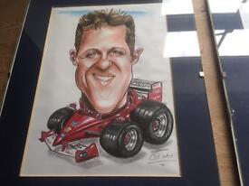 Formula 1 signed characetures