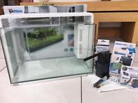 Superfish Home 60 Contemporary / Modern White Aquarium / Tropical Fish Tank