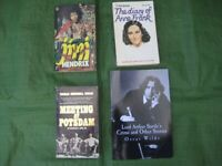 4 Biographies/Historically Themed Paperbacks for £2.00