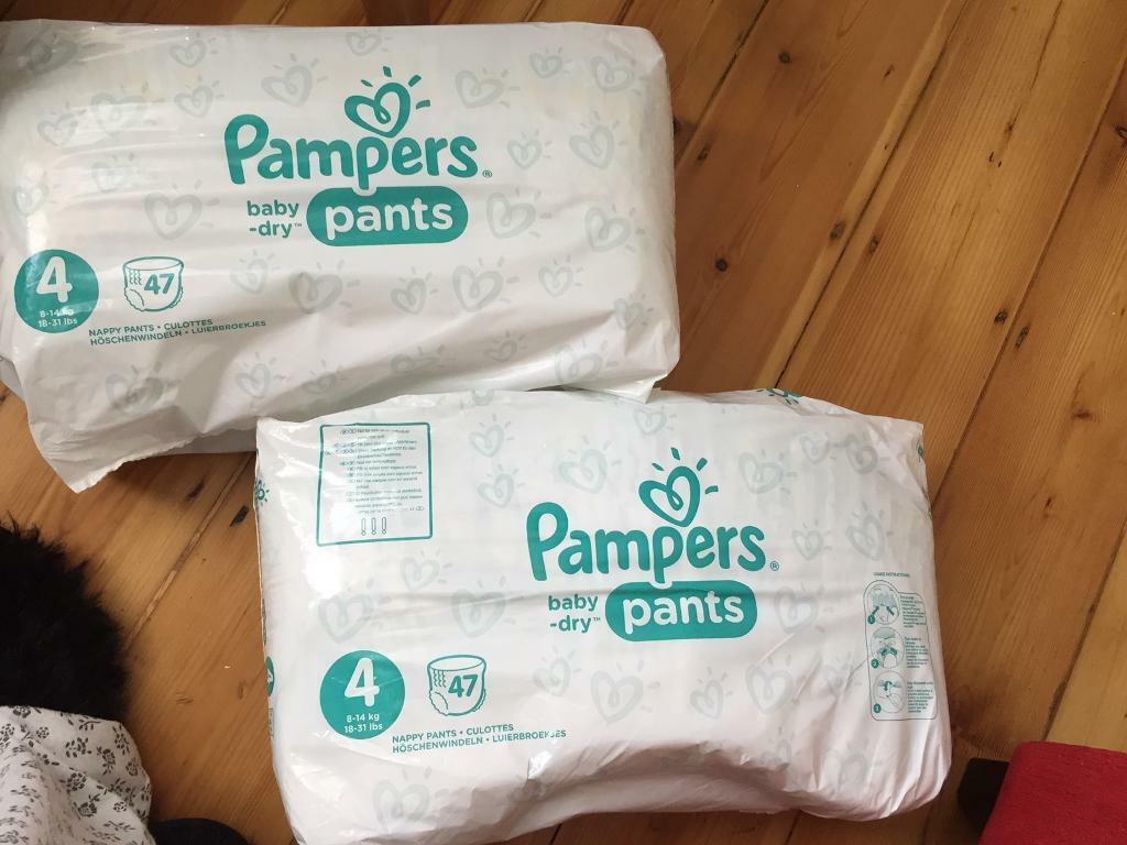 2x Pampers baby dry pants size 4