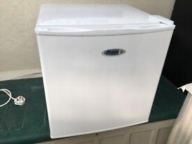 Worktop fridge freezer 'Prem' make front opener, in good condition.