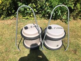 Pair of 29 litre aquarols camping caravan water barrels container campervan motorhome