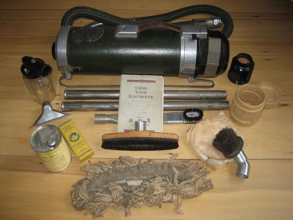 electrolux vacuum vintage. vintage retro electrolux z 25 vacuum cleaner, wood boxed collectable set y