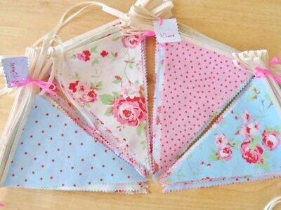 Bunting Wedding Party Vintage Decorations Floral Shabby Cath Kidston Fabric 8FT - Bunting Decorations