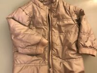 Verbaudet kids unisex silver padded jacket (18M / 80cm)