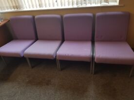 6x chairs in purple ideal for wating area