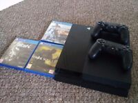 Playstation 4 500GB Console with 2 Controllers, Fallout 4, Dark Souls 3, and Battlefield 4