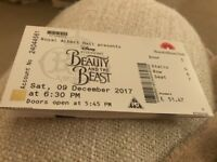 2 tickets for Beauty and the Beast - Royal Albert Hall 9 December 2017 at 6.30pm. 2 tickets stalls