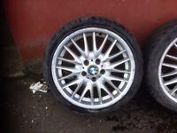 "GENUINE BMW MV 1 18"" ALLOYS AND TYRES"