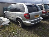 2004 2.5 Chrysler Voyager, Breaking for parts only. Postage Nationwide