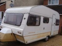 Avondale Perle 4/6 berth touring caravan with awning