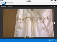 new monsoon wedding dress pearl detail, size 8