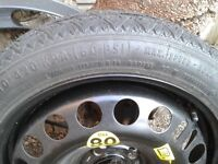 Small 'spare' wheel and tyre