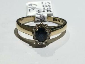 #3335 14K Y/W/GOLD BIRKS FANCY LADIES SAPPHIRE *SIZE 6 1/2* APPRAISED $1,525.00 SELL $425.00 APPRAISAL INCLUDED