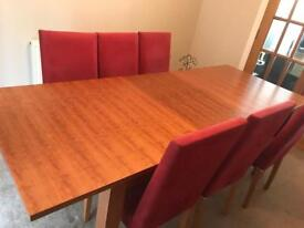 Habitat Cherry Wood Dining Table and 6 Chairs