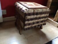 Wooden storage box, hand made from pallet wood. Each individual piece shaped and sanded,