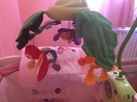 Fisher Price Rainforest cot mobile used twice £60 from Amazon