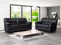 *BRAND NEW* Candy sofa 3+2 seater sofa set in black and brown *High Quality Italian Faux Leather*